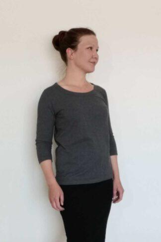 Naisten 3/4-hihainen suora paita