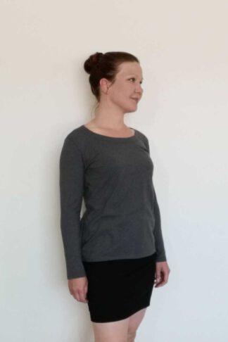 Naisten pitkähihainen suora paita